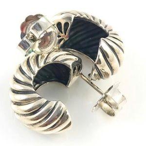 DAVID YURMAN Cable, Hoop Earrings Sterling Silver.